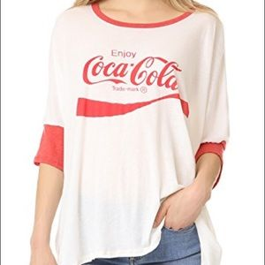 NWT Wildfox Coca Cola High Low T-shirt Size Small